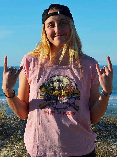 T-shirt GUNS N'MEDOC rose