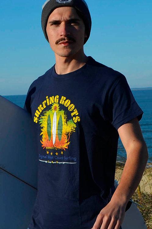 T-shirt SURFING ROOTS bleu navy