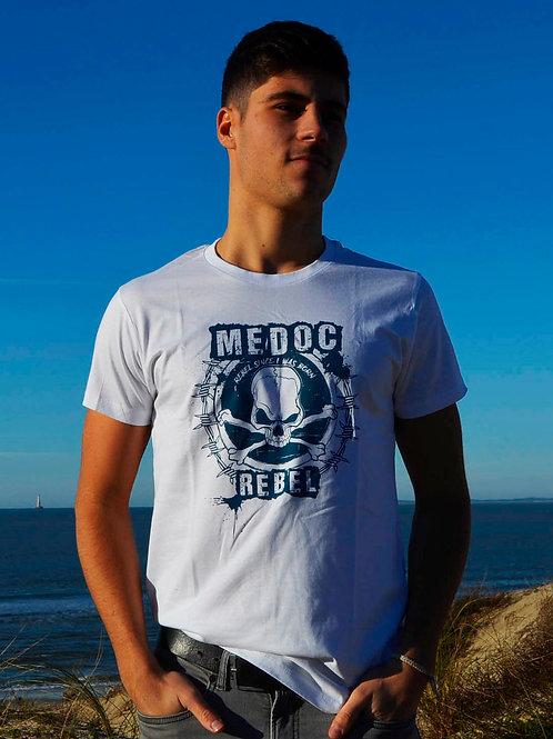 T-shirt MEDOC REBEL blanc