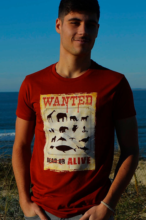 T-shirt WANTED terraccota