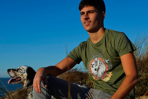 T-shirt NATURE & FAUNE LOCALE kaki