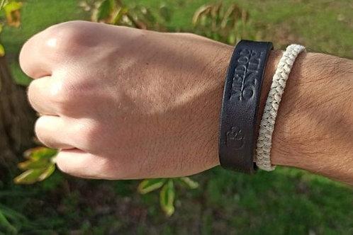 Bracelet cuir artisanal homme