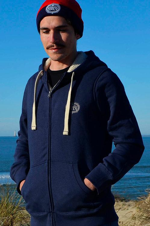 Veste SHERPA bleu navy