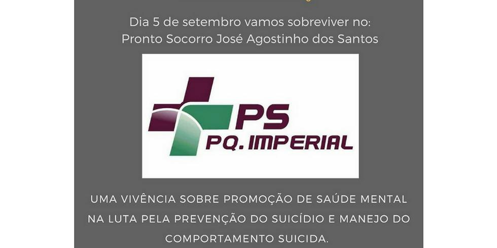 Uma vicência sobre Promoção de Saúde Mental na luta pela Prevenção do Suincídio e manejo do Comportamento Suicida.