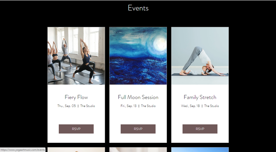 YogaArts: Events