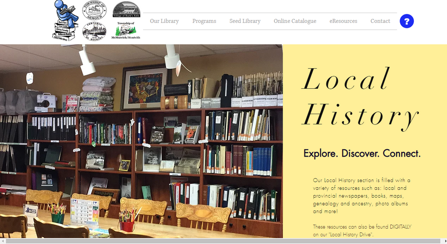 BFPL Local History Page (Above the Fold)