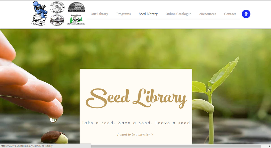 BFPL Seed Library Page (Above the Fold)