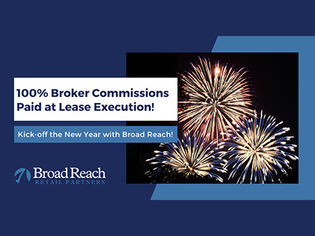 Broad Reach Offers 100% Paid Broker Commissions at Lease Execution