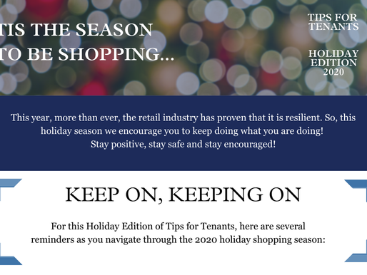 Tips for Tenants: 2020 Holiday Edition