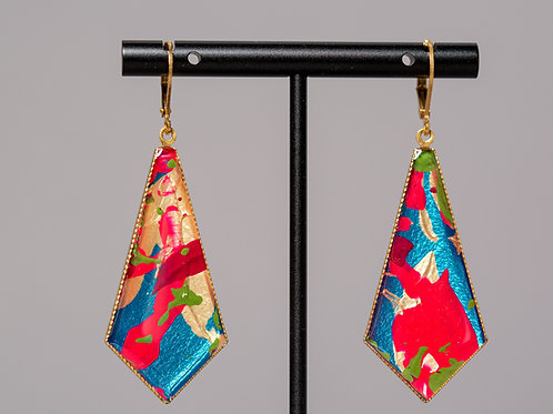 "Tie earrings ""Unique No. 24"""