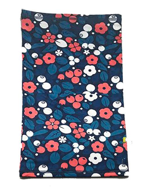 Neck Warmers Red /Orange Flowery Pattern