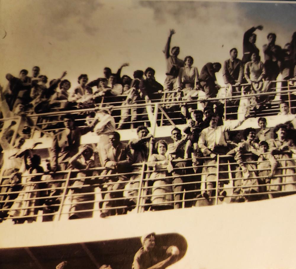 Embarcação de Italianos rumo ás Américas. Foto: Museu de Imigração - SP
