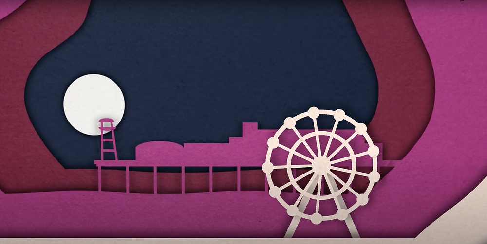 A snapshot of the gorgeous paper cut animations we produced for Dorset Moon