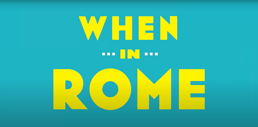 A screenshot of the incredible animations we did for When In Rome