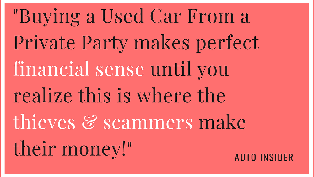 saving money buying a used car