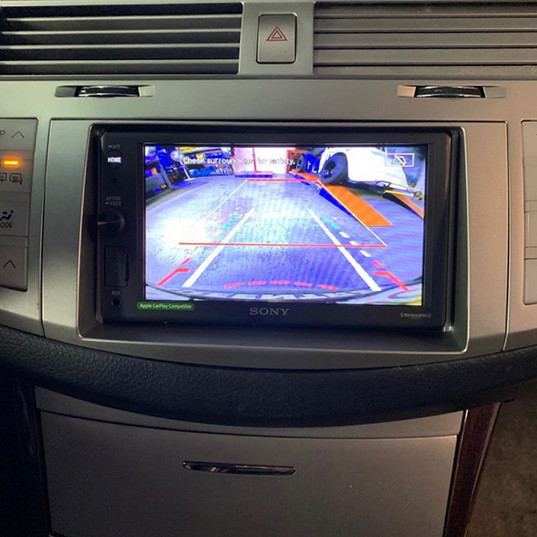Backup Camera View through Sony Head Unit