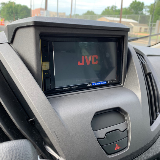 JVC Head Unit in Ford Transit