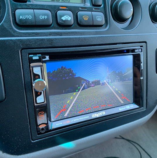 Backup Camera View through Head Unit