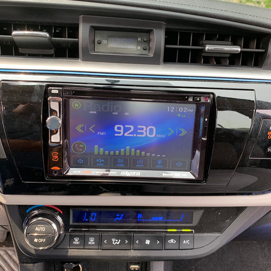 Entry-Level Head Unit in a Toyota Corolla