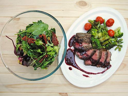 Бокс № 6 (сделай сам) Ростбиф с овощами и винным соусом