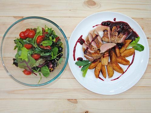 Бокс № 4 (сделай сам) Утиное филе су-вид, с карамелизированными яблоками и ягод