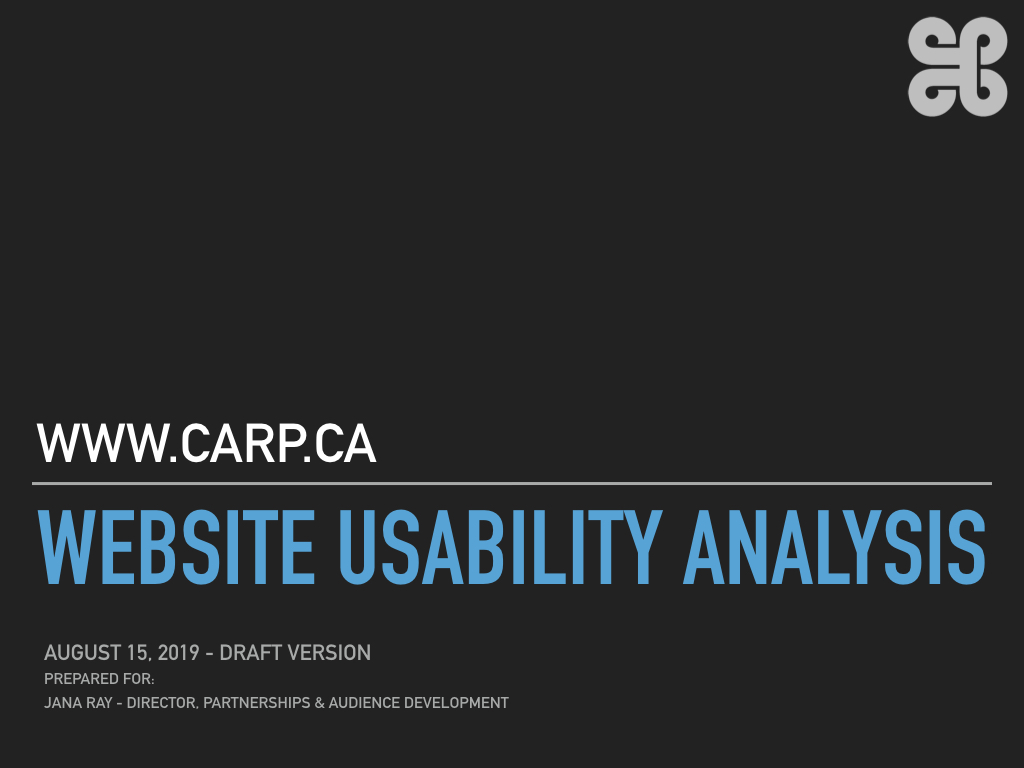 Complete Usability Analysis for CARP_CA