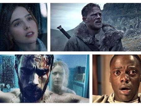 Nesta semana, 'Corra!', 'Rei Arthur' e terror nacional chegam aos cinemas
