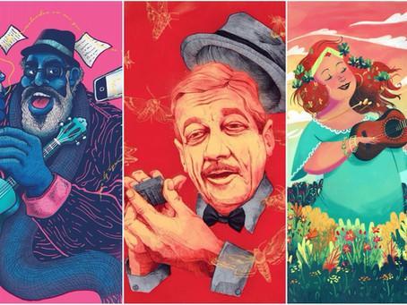 'Alfabeto do Samba' homenageia, com ilustrações, grandes nomes do gênero