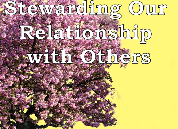 Corporate Prayer Series: Stewarding Our Relationship with Others - Book