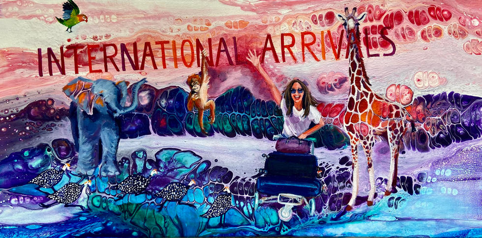 """International Arrivals"" by Angela Lubinecky"