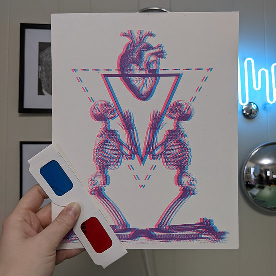 Heart Worship Anaglyph Print