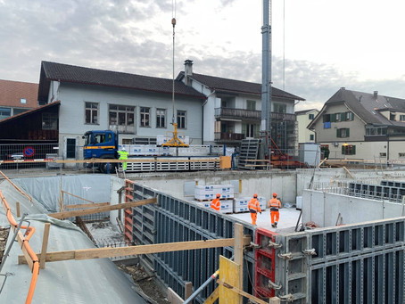 Neubau MFH Sunnepark Oberburg - 6. Bauwoche