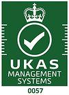 UKAS Accreditation Symbol - white on gre