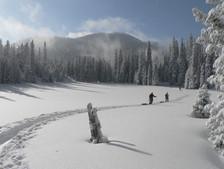 冬のトレッキング