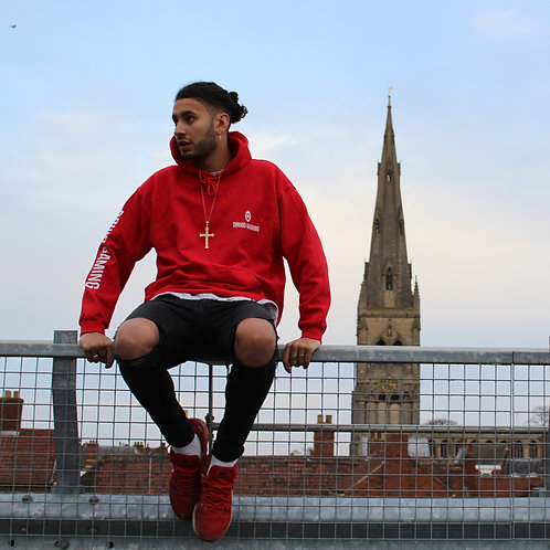 Druid Gaming Winter Hoody 2020 With Text - Red