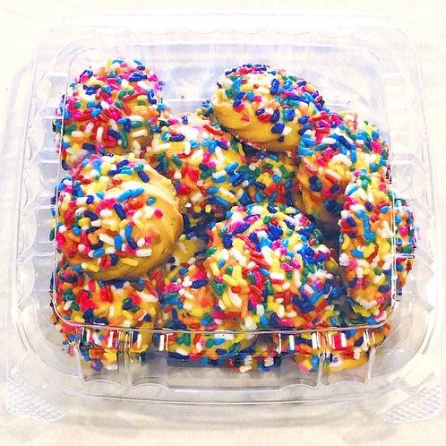 Round Vanilla - Rainbow Sprinkle Cookies