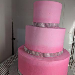 Custom Pink Tier Cake