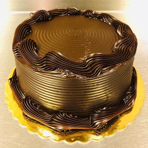 Vanilla Chocolate Fudge Cake