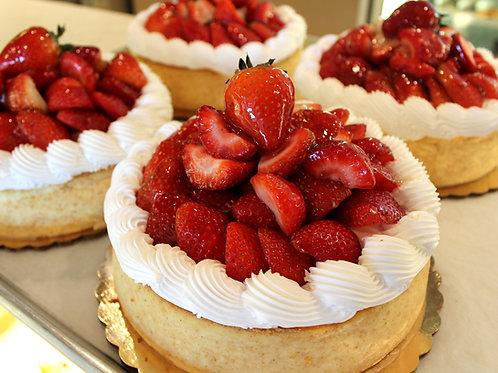 """7"""" Strawberry Cheesecake"""