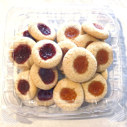 Raspberry & Apricot Amaretti Cookies (Almond Paste with Jelly)
