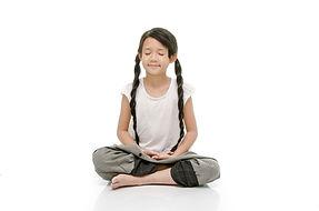 Portrait of beautiful asian girl meditat