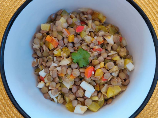Delicious Lentil Salad Full of Different Flavours