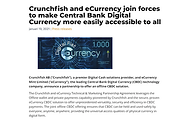 eCurrency and Crunchfish join forces to make CBDC accessible by all