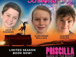 MTW boys cast in the new South African production of 'Priscilla Queen of the Desert'
