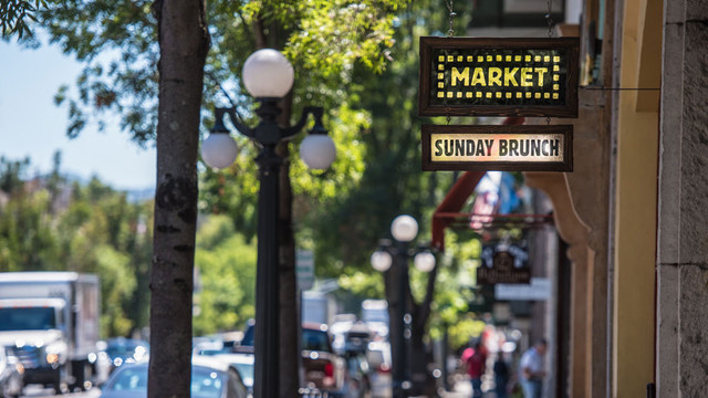 Market St. Helena Californië