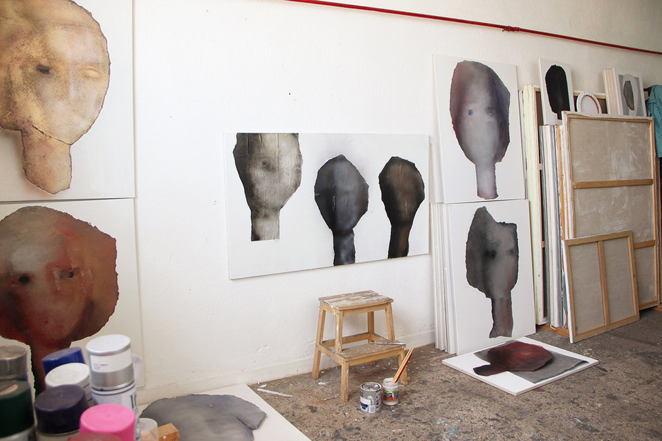 painting studio - abstract portraits