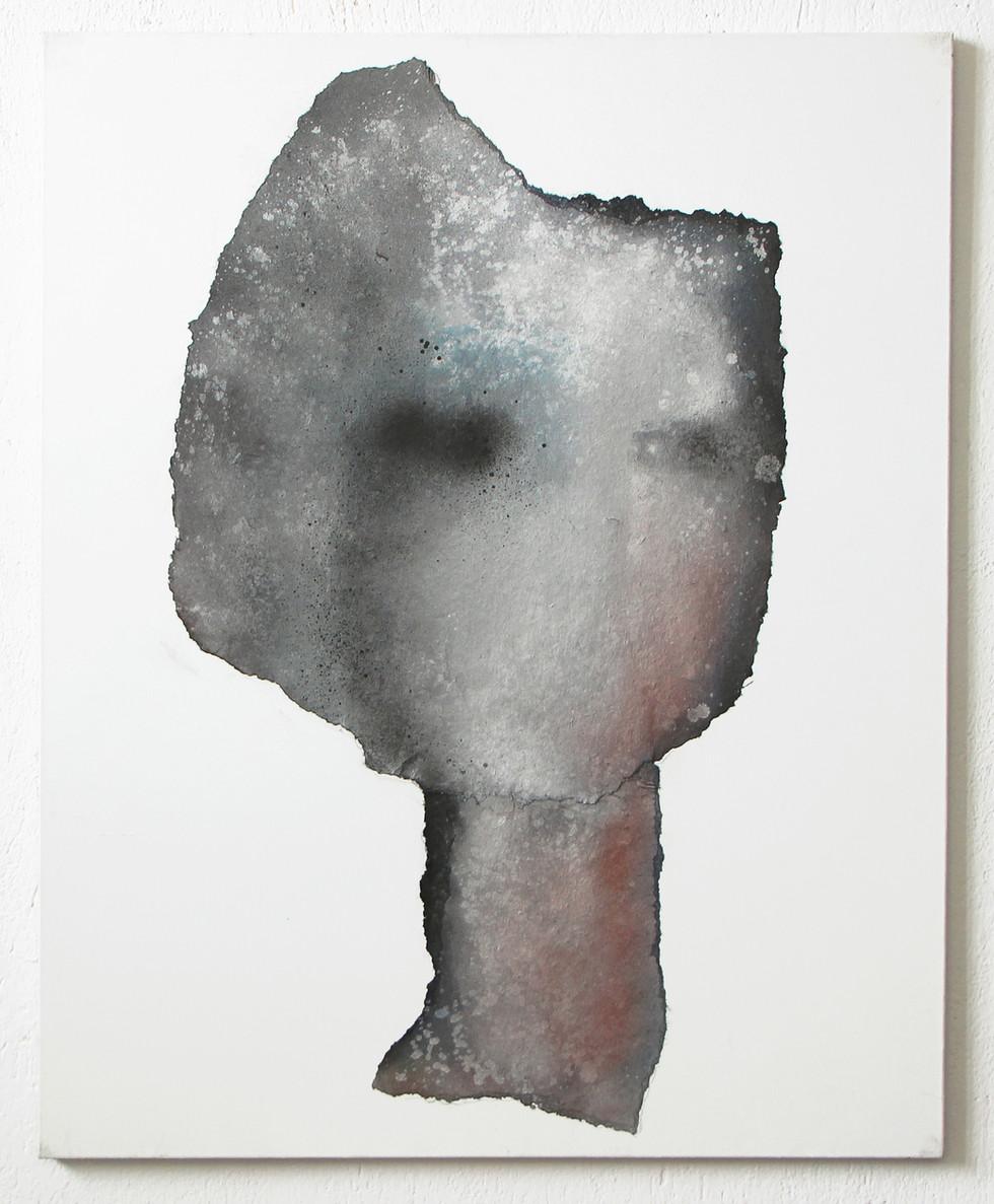Silver Grey Abstract Face