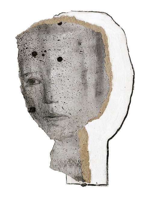 abstract art drawing of a woman