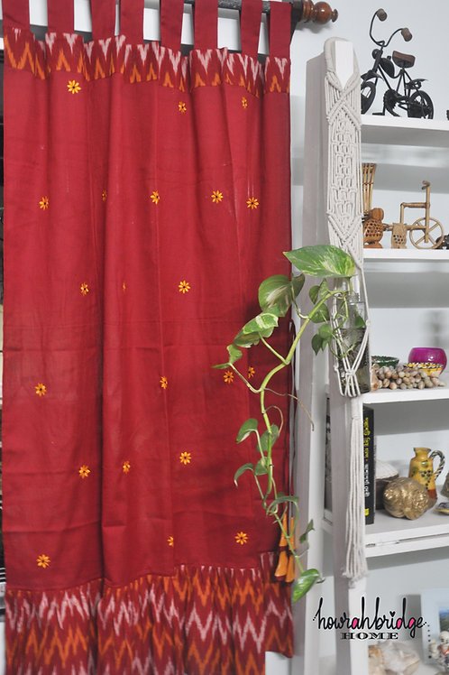 Scarlet Sunset Curtain