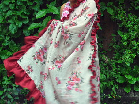 Drapes in Trend: Ruffle Sarees